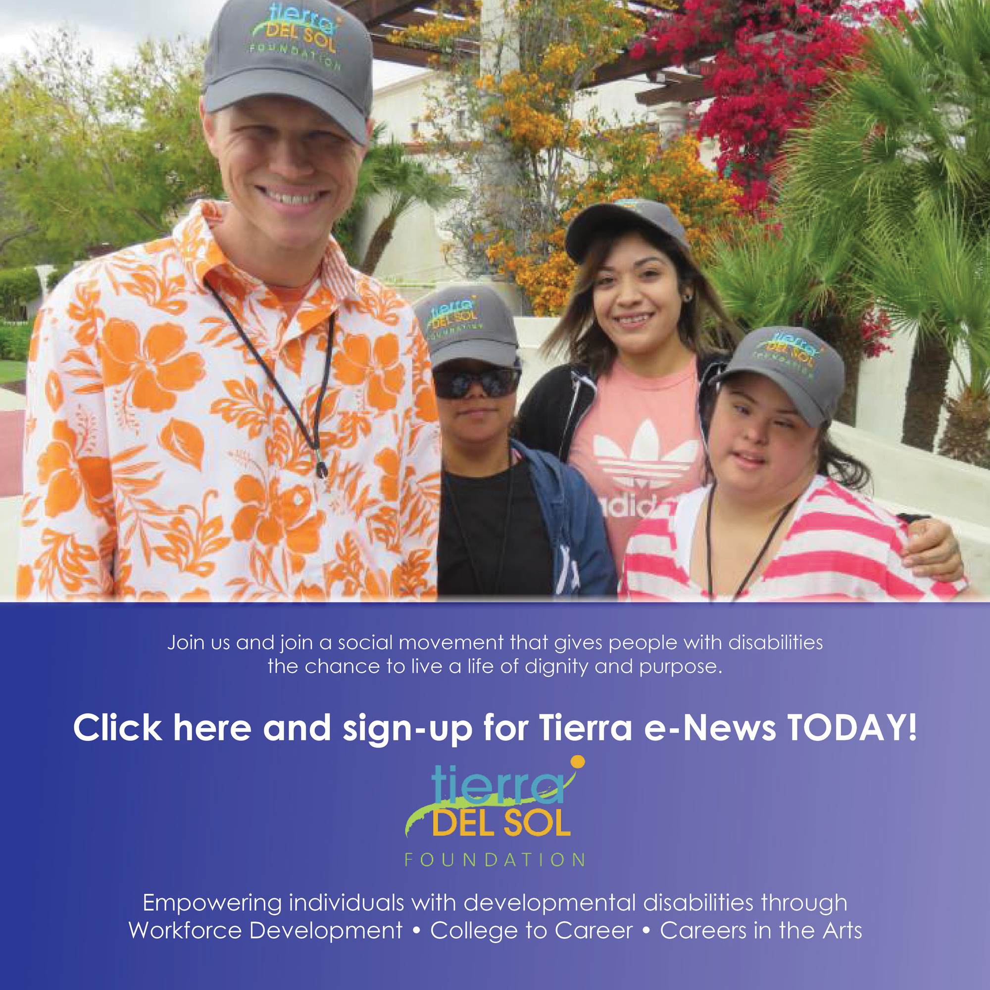 Click here and sign-up for Tierra e-News TODAY!