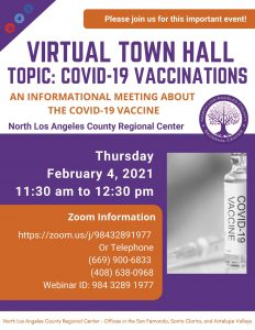 Virtual Town Hall on February 4 -Topic: COVID-19 Vaccinations
